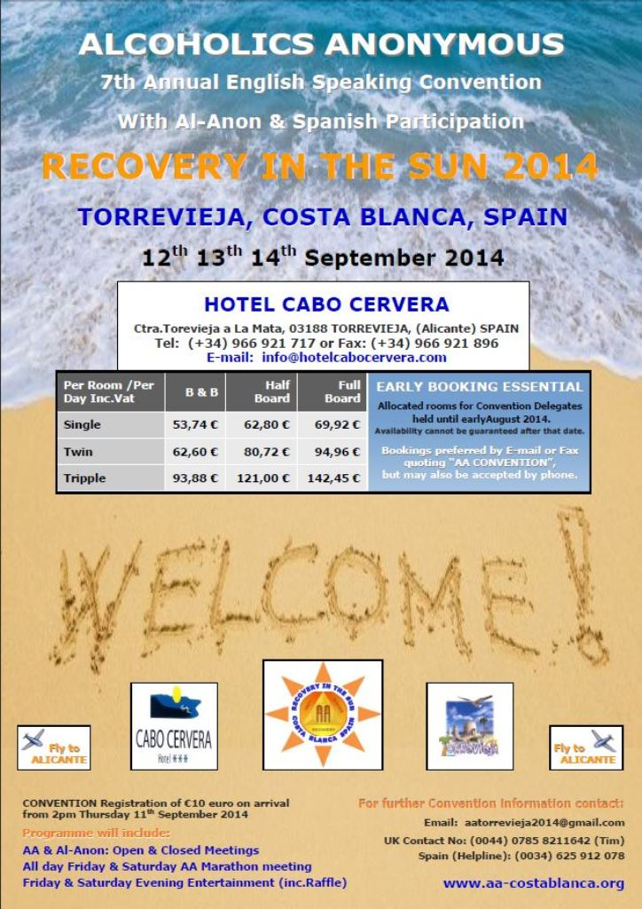 RECOVERY IN THE SUN CONVENTION 2014